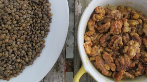 Walnuts-and-lentils