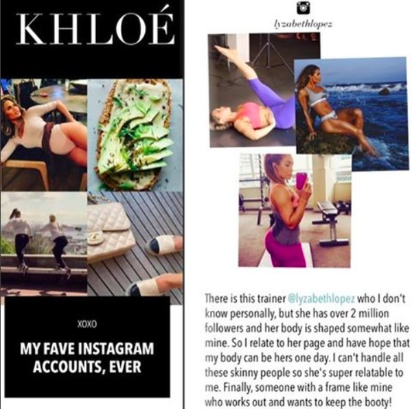 Khloe Kardashian list me as one of 7 fave IG pages!!