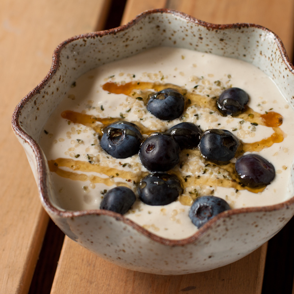 supercharged vegan snacks - cashew yogurt