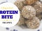 3 Ingredient Protein Bite Recipes For Vegans!