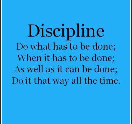 Motivational Quote: Dicipline