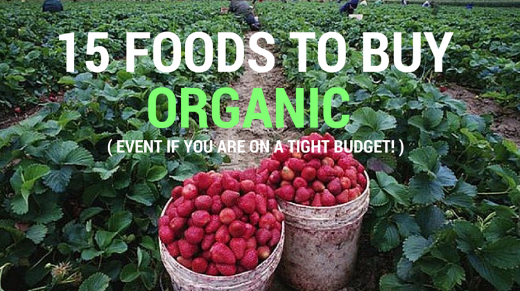 15 Foods to Buy Organic Even On A Tight Budget!