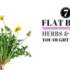 7 Flat Belly Herbs and Spices You Ought To Have